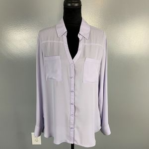 Express, size L, periwinkle top